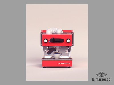 Week 18 - Espresso Rosso italia firenze la marzocco espresso machine espresso coffee illustration design after effects motion loop arnold maya 3d animation