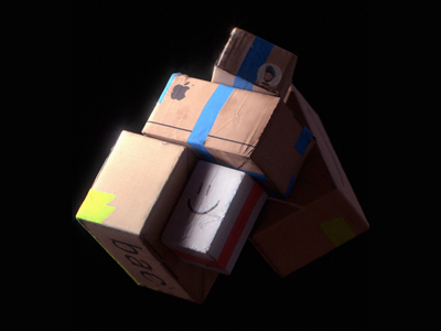 Week 20 - Space Express 2077 nasa amazon apple shipping ups fedex delivery space package boxes cardboard design gif dynamics motion arnold maya 3d animation