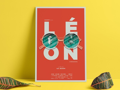 L É O N luc besson the professional reflection glasses illustration photoshop arnold maya 3d movie leon poster