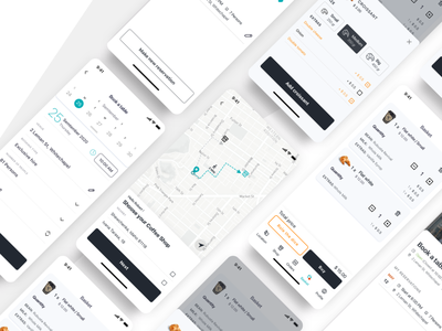 Ordering experience in mobile e-commerce black  white ecommerce shop reservations map geolocation food and drink restaurant app mobile ios ordering app ux design ui design flat