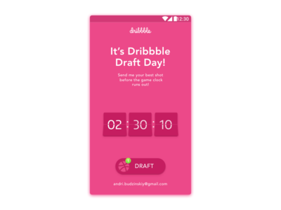 Dribbble Draft Day giveaway draft dribbble invite