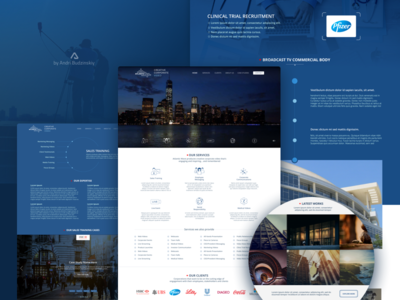 Atlantic Wave Website minimalist design flat visual design web design ui design ux design