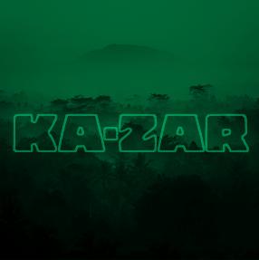 Ka-Zar album cover vignette type multiply green