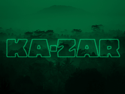 Ka-Zar album cover vignette type multiply green
