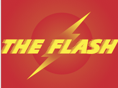 The Flash album cover vignette type vector speed