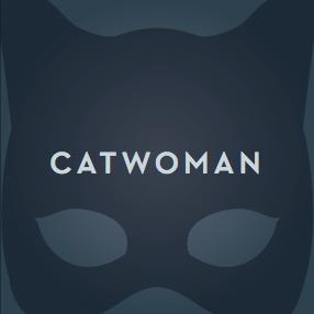 Catwoman album cover vignette type