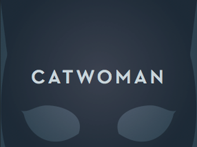 Catwoman album cover vignette type