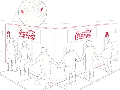 Coca Cola Concept Vending coca cola vending concept illustration