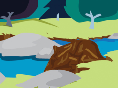 Clueless Critters Environment (Forest) illustration game childrens game kid