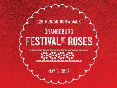 Festival of Roses logo festival of roses run walk orangeburg