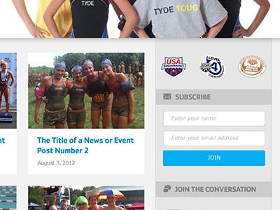 Swim Team website swim nonprofit website