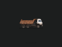 Kamaz Russian Truck Illustration