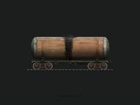 Railroad Oil Tank Illustration