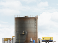 Oil Tank Dust Blasting Illustration
