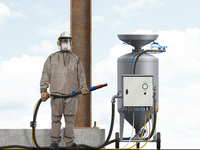 Dust Blasting Worker Illustration
