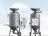 Pneumatic Hydroabrasive Machine Illustration