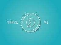 Logo. Clock from vinyl records.