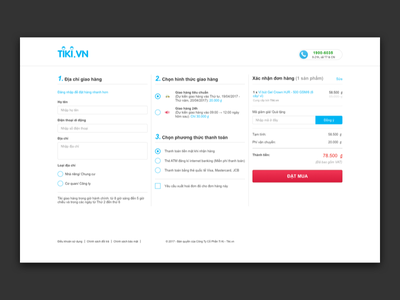 Vietnamese ecommerce Tiki.vn checkout flow redesign usability tiki redesign checkout ecommerce ui web
