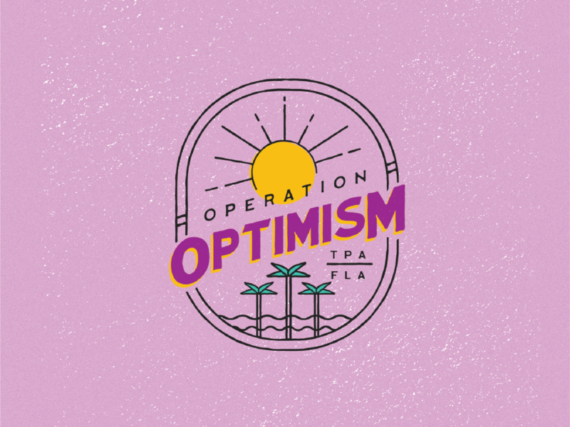 Operation Optimism Logo hand drawn graphic design identity design branding vintage non-profit typography logo design