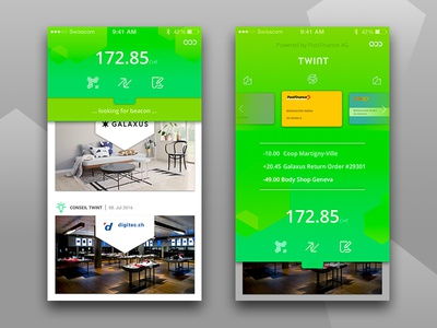 Mobile payment app redesign product design ux ui swiss bank payment android switzerland redesign app mobile