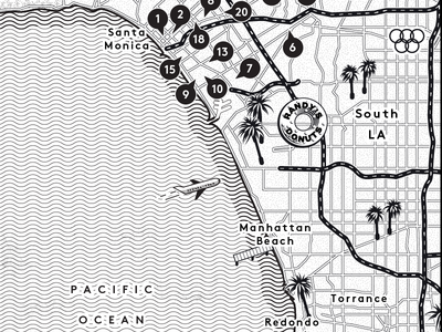 Map of LA - Billboard magazine