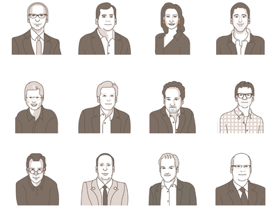 Portraits of Reuters columnists and main contributors.