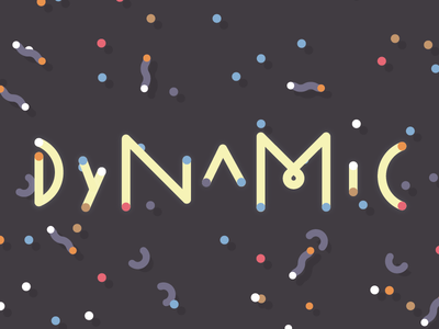 Playing around  linear typography colorful word frame type