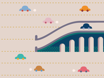 Tiny Cars road bridge car