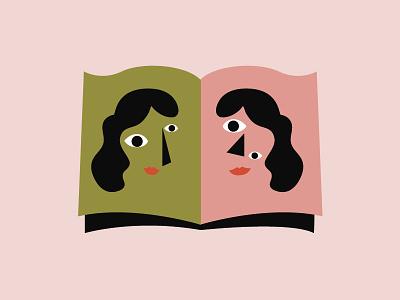 Facial Blindness  mirror book picasso facial blindness illustration