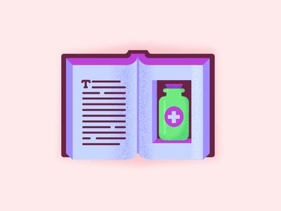Book Apothecary icon pharmacy literature medicine apothecary book icon