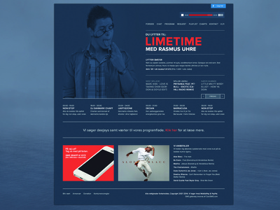 Specific Radio redesign redesign radio player blue large image red flat