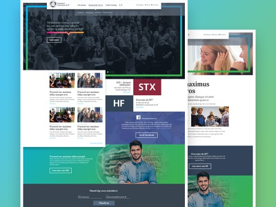 High school website middelfart gymnasium colorful webdesign high school