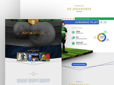 Alpha Brasil Academy soccer team futebol soccer design user experience interface ui ux