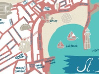 St. Ives Map close up