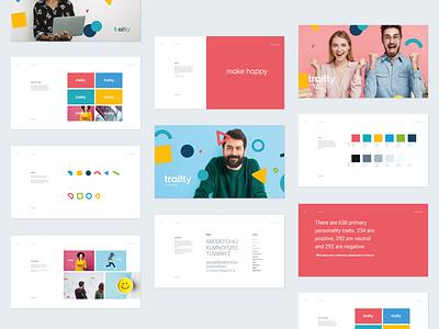 traitly brand book ai app flat ray doyle design system web vector logo design branding