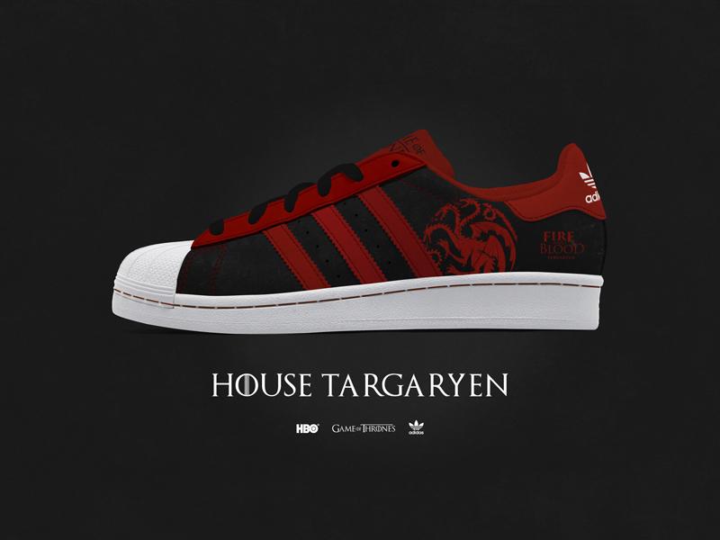 170485a35 Game of Thrones - Custom Adidas Superstar - House Targaryen footwear  superstar ray doyle hbo adidas