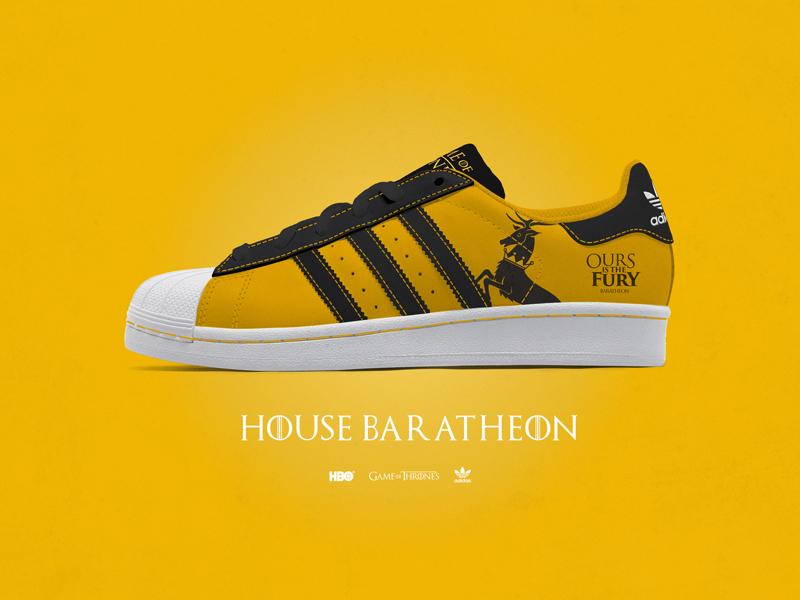 Game of Thrones Custom Adidas Superstar kicks on Behance