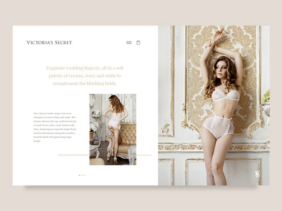 Victoria Secret Bridal iPad UX victoria secret bridal underwear lingerie wedding ui web design ray doyle