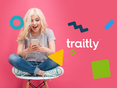 traitly -  Brand development saas web sketch branding graphics vector shapes blue gui ai ux widget