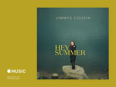Jimmy's Cousin - Hey Summmer Cover Art jazz ireland apple music photography ray doyle design branding typography