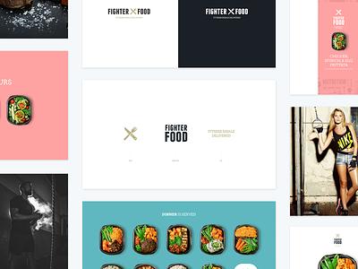 FighterFood Brand Guidelines food model fitness ray doyle ireland typography web design logo illustration ux branding