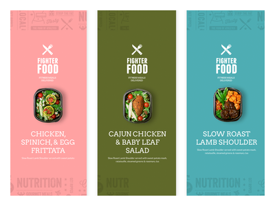 FighterFood Product Labels mockup print retail food product branding typography logo design branding