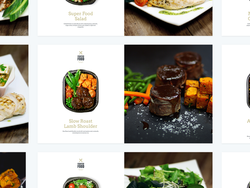 FighterFood Product Cards