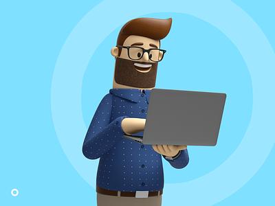 Digital Skills Crisis - Character Development macbook pro branding ireland character concepts character design 3d illustration ray doyle