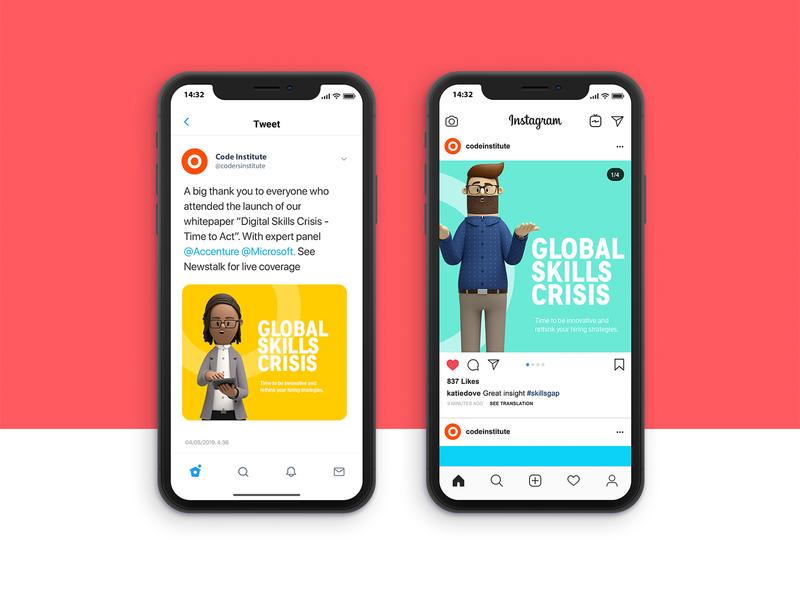 Social Ads - Digital Skills Crisis Campaign