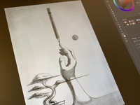 Create without distractions! Work in progress sketch