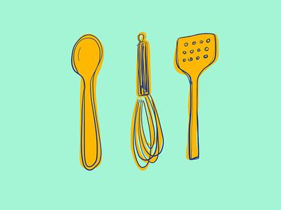 12/100 cooking adobefresco illustration 100dayproject