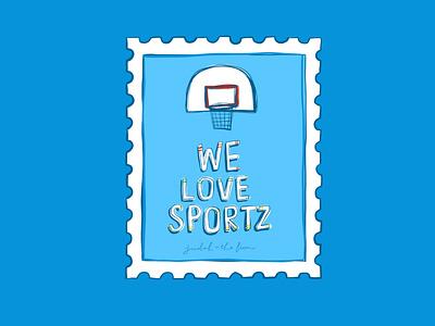 21/100 basketball sports illustration adobefresco 100dayproject