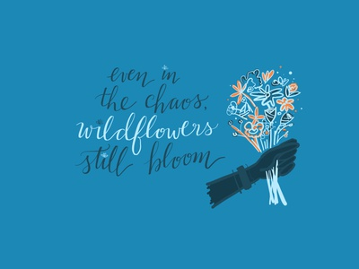 26/100 quote art wildflowers illustration adobefresco 100dayproject