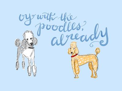 28/100 poodles adobefresco illustration 100dayproject gilmore girls